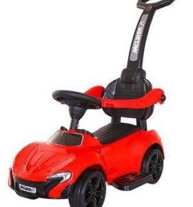 Детская машина толокар McLaren родительской ручкой