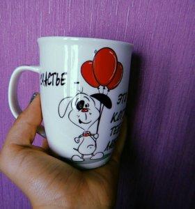 """Кружка olaff """"собаки-счастье"""""""