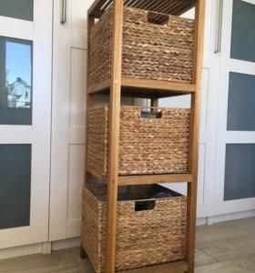 Деревянная этажерка