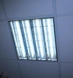 Светильники для Армстронг 60х60см б/у с лампами