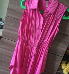 Рубашка розовая для девочек глория джинс