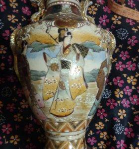 Ваза Китай 19 век роспись Фарфор