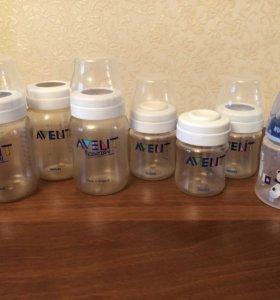 Бутылочки Avent + подарки
