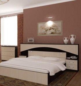 Кровать с матрасом,комод НОВАЯ!