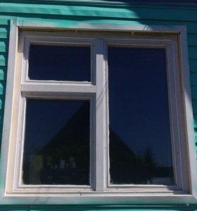 Окна деревянные остеклённые