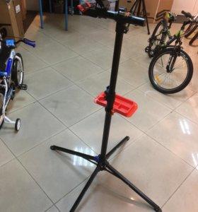 Стойка тренога для сборки ремонта велосипеда