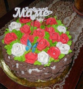 Изготовлю на заказ тортики