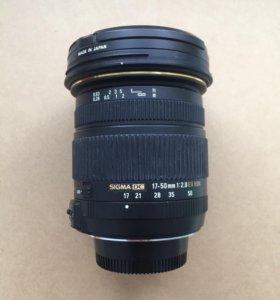 Объектив sigma dc 17-50mm 1:2.8 в отличном состоян