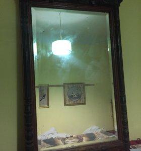 Старинное резное зеркало