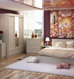 Модульная спальня Барселона (эко кожа)