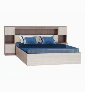 Кровать Бася с закроватным модулем в наличии