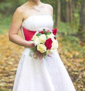 Коктейльный-свадебное платье