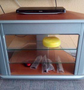 тумба под TV с двумя стеклянными полками