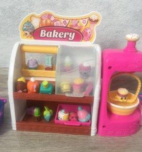Игровой набор Shopkins(пекарня,овощная лавка)