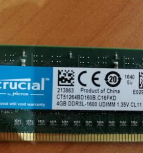 Оперативная память Crucial DDR3L 4 GB