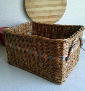 Интерьерные плетеные корзины