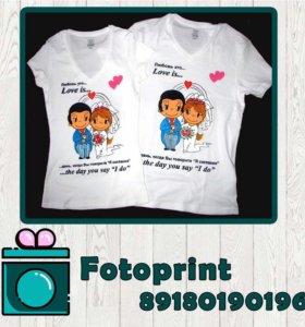 Фотопечать на футболки