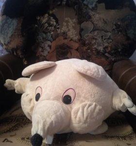 Мышка. Декоративная, мягкая, диванная подушка.