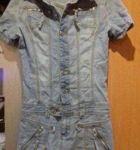 Платье джинсовое. Размер 42-44