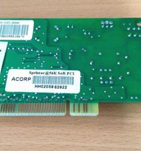 Модем ACORP Sprinter@56K Soft PC