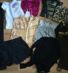 Пакетом 30 вещей фирменные топы,платья,брюки,
