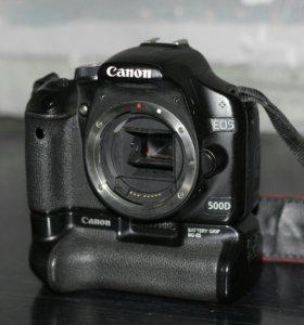 Canon 500d body + Батарейный блок