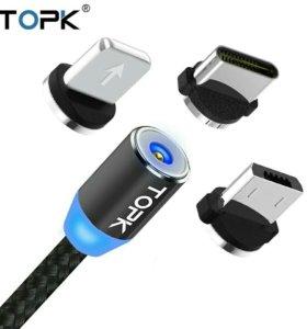 TOPK Магнитный Micro usb кабель