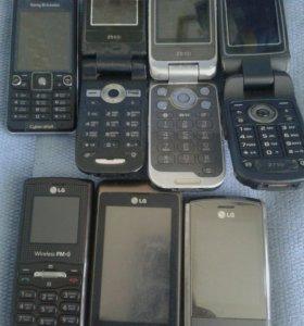Телефоны Sony Ericsson и LG