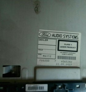 AUDIO SYSTEMS Ford