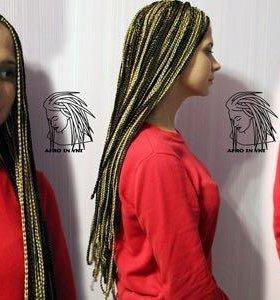 Заплетение африканских кос