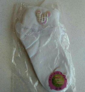 Носки с рюшами р 32