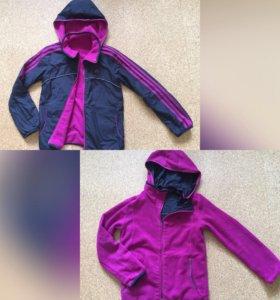 Двухсторонняя куртка Adidas на 152 см