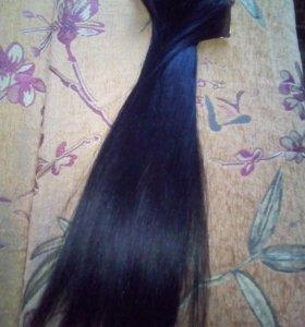 Накладные волосы настоящие