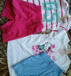 Комплект детский шорты и футболка