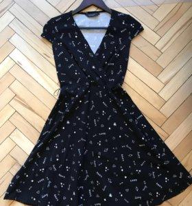 Новое Хлопковое платье с поясом