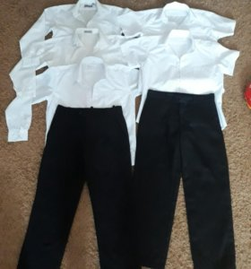 Рубашки и брюки р.134-138