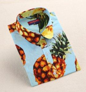 Рубашки с ананасами больших размеров