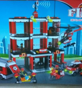 Lego аналог пожарная часть