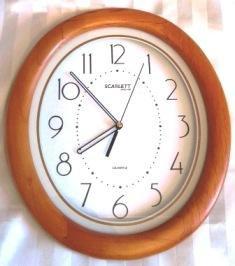 Часы настенные Scarlett в рамке из дерева