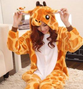 Пижама кигуруми Жираф много пижам