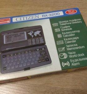 Электронная записная книжка Citizen RX-3200