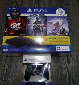 новая SONY PlayStation 4 500GB +2 джостика 3 игры.