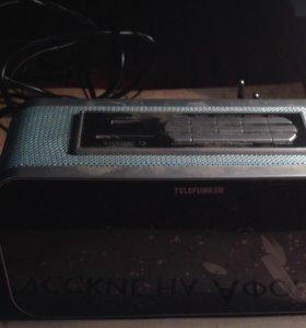 электронные часы+радио