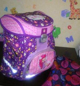 Ранец рюкзак школьный для девочки