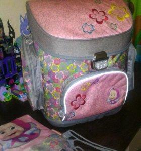 Ранец рюкзак для девочки школьный