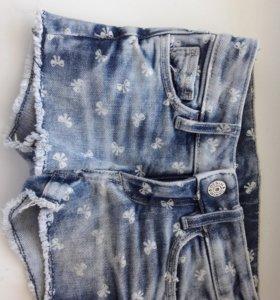 шорты джинсовые hm