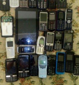 Планшет и телефоны на запчасти или востановление