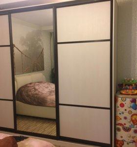 Шкаф-купе, кровать, комод, тумбы спальный гарнитур