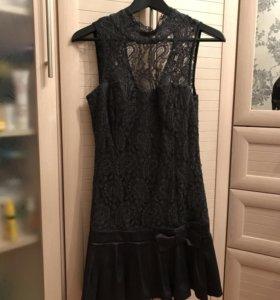 Вечернее платье темно-серое