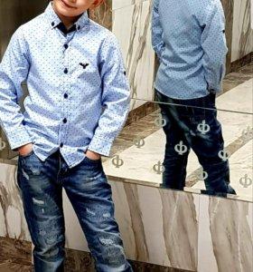 Сорочка для стильного парня! Голубого цвета! н
